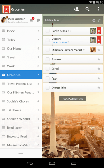 Wunderlist app for business growth