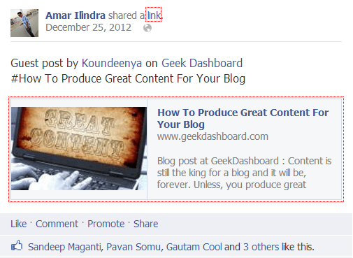 Koundeenya Guest Post on Geek Dashboard