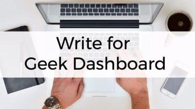 Write for Geek Dashboard