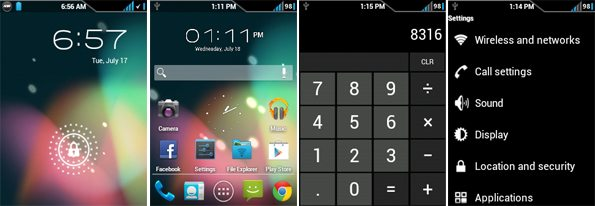 Android 4.1 Jelly Bean ROM on Samsung Galaxy Y S5360 Screenshots