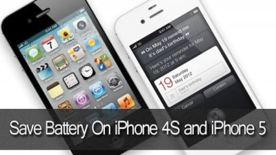 Save Battery On iPhone 4S and iPhone 5