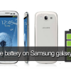 save battery on Samsung galaxy S3