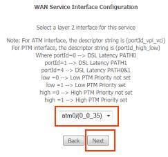 DLink BSNL configuration WAN service