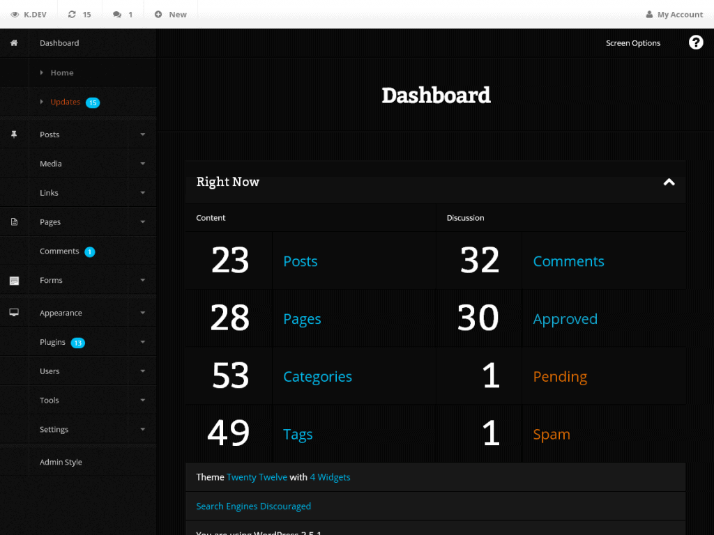 DP Dashboard Plugin