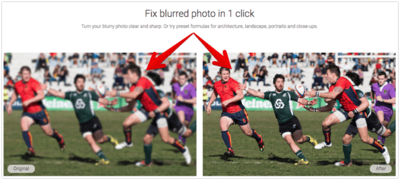 Wondershare Fotophire Focus Example