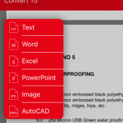 Using this tool, you can convert PDF to text, word, excel, powerpoint, Image and AutoCAD