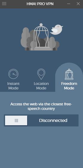 HMA Pro VPN User Guide - Freedom Mode