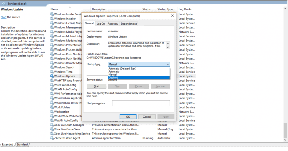 Turn Off Automatic Updates in Windows 10 - Windows Update Disabled