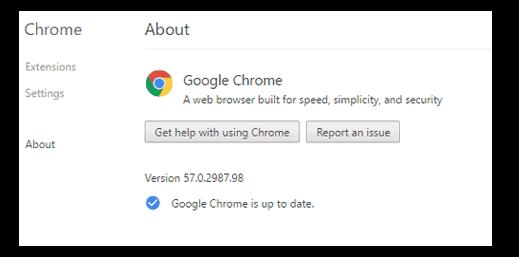Chrome 57 update