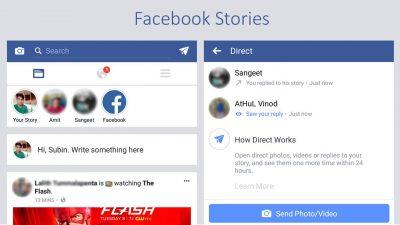 Stories in Facebook App
