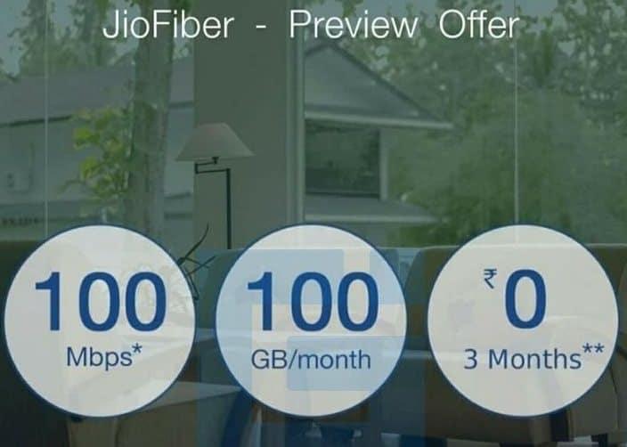 jio fiber preview offer