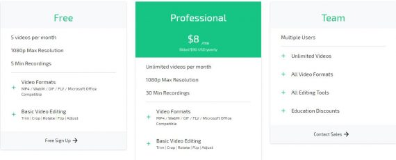 best online video editor by clipchamp pricing details