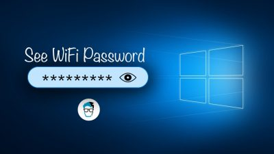 How to find WiFI password on Windows