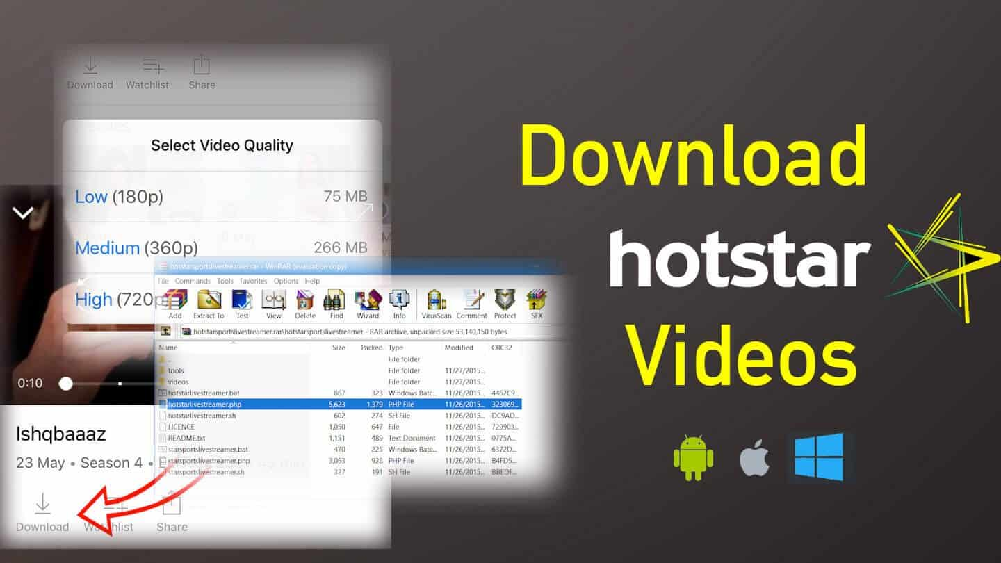 how to download hotstar premium videos in pc free