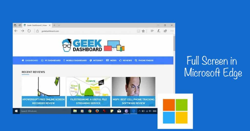 How to Access Full Screen Mode on Microsoft Edge