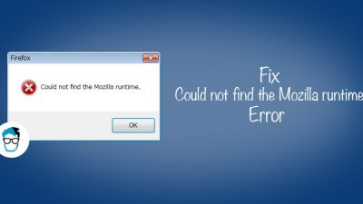 How to fix mozilla runtime error