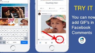 Add GIF in Facebook comments