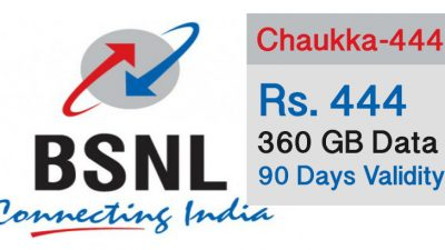 BSNL 444 offer - get 360 GB Data valid for 90 days