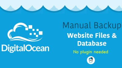 best way to manually backup website files and database in digital ocean