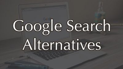 alternatives for Google search