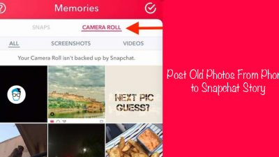 Share old photos from gallery as snapchat story