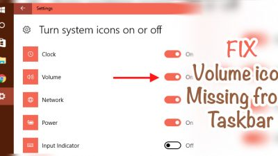 how to fix volume icon missing error in windows 10 and windows 7