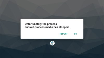 Unfortunately, The Process Android.Process.Media Has Stopped