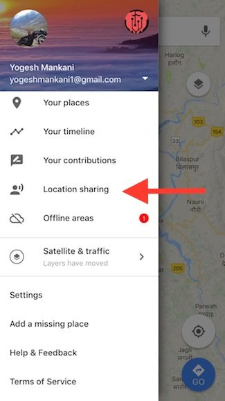 how to see friends location on google maps
