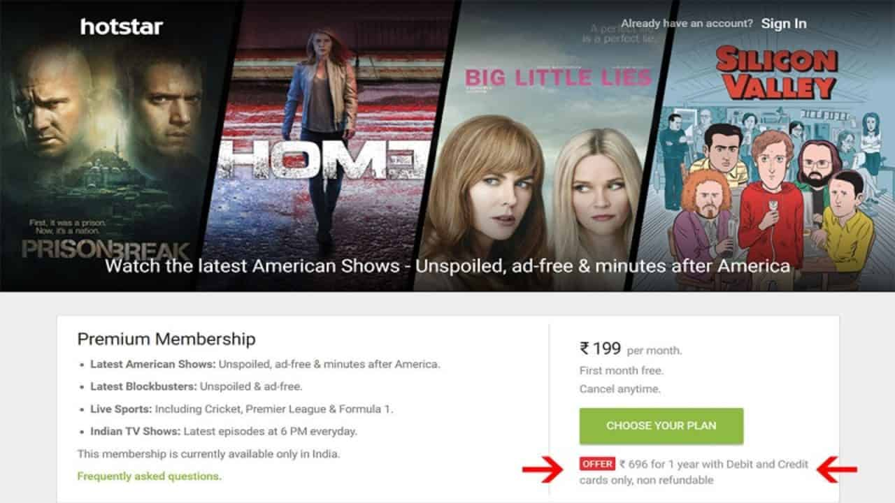 Hotstar is Now Offering Annual Subscription for Rs  696 (70