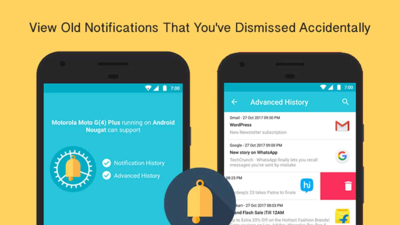 Notification History Log - View Old Notifications You've