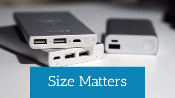 size of the power bank matters