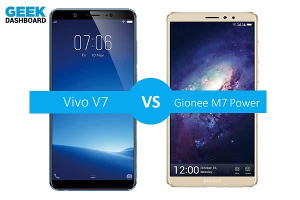 Vivo V7 vs Gionee M7 Power Comparison