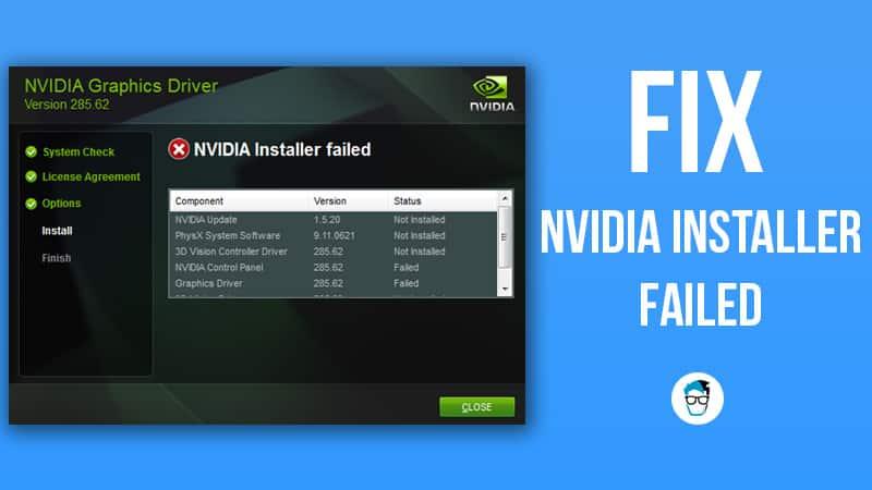 Fix  Nvidia Installer Failed Error In Windows 10