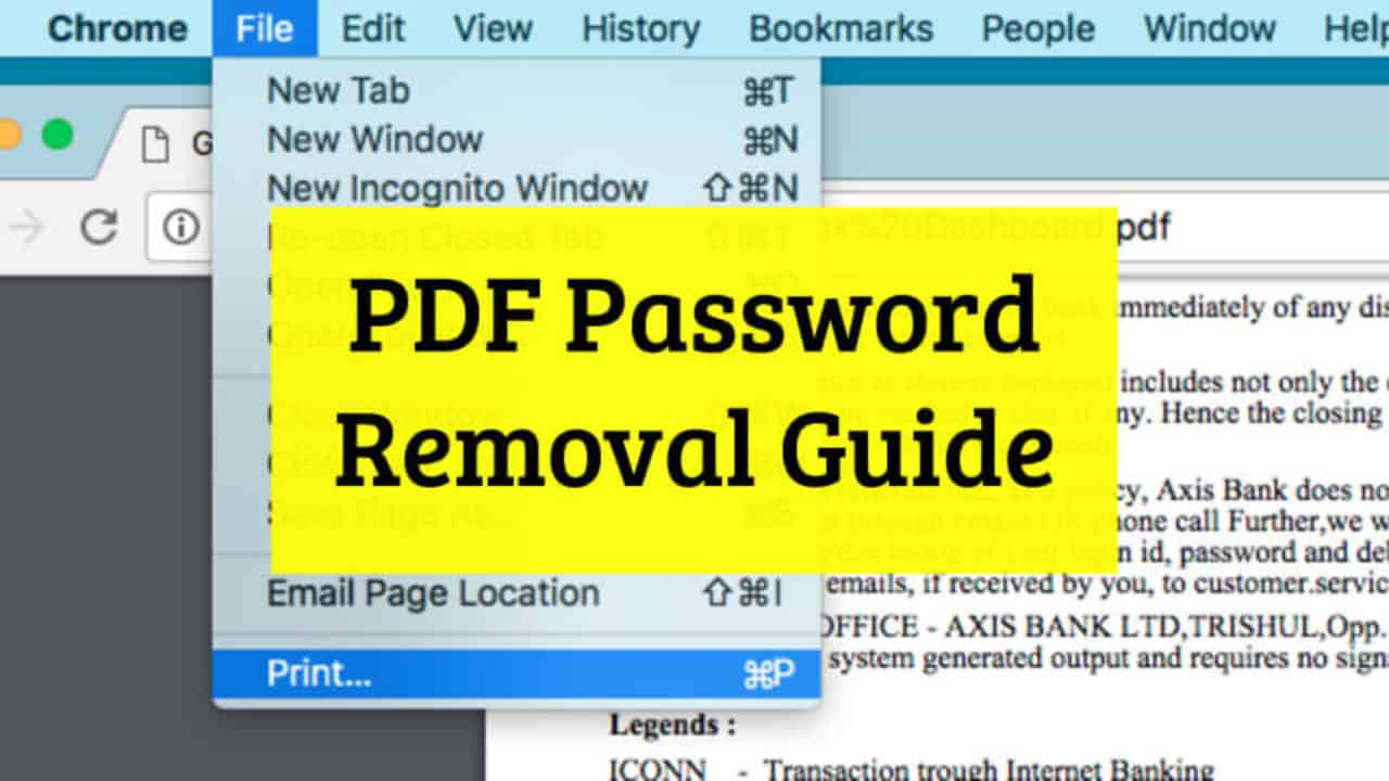 How to Remove Password from PDF Files - Password Removal Guide