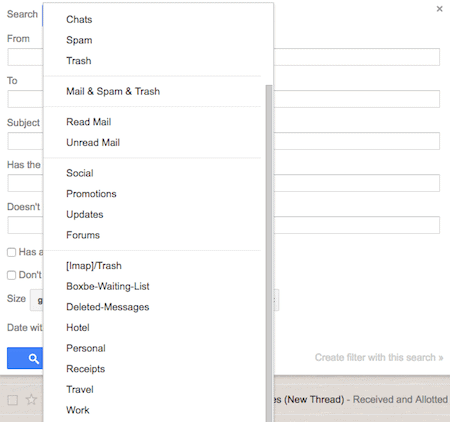 sort gmail inbox by subject