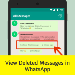 View messages in WhatsApp which are deleted using Delete for Everyone feature