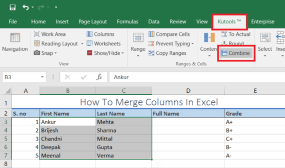 How To Merge Columns in Microsoft Excel Without Data Loss