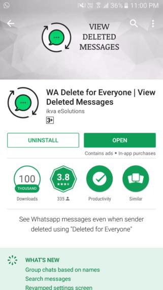 wa delete for everyone app store listing