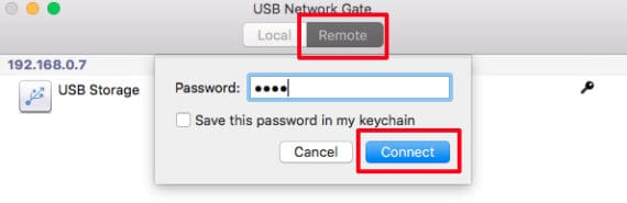 Enter password to connect