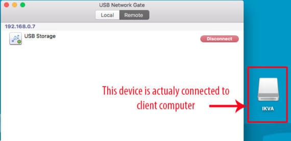 connected USB device over internet