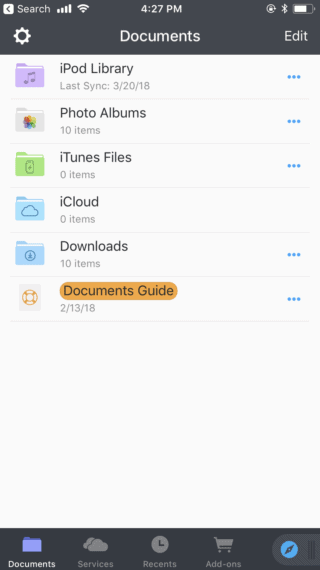 documents app for iphone