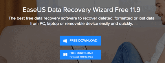 Download data recovery software to recover deleted files
