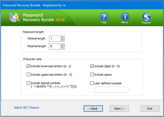 choose password length