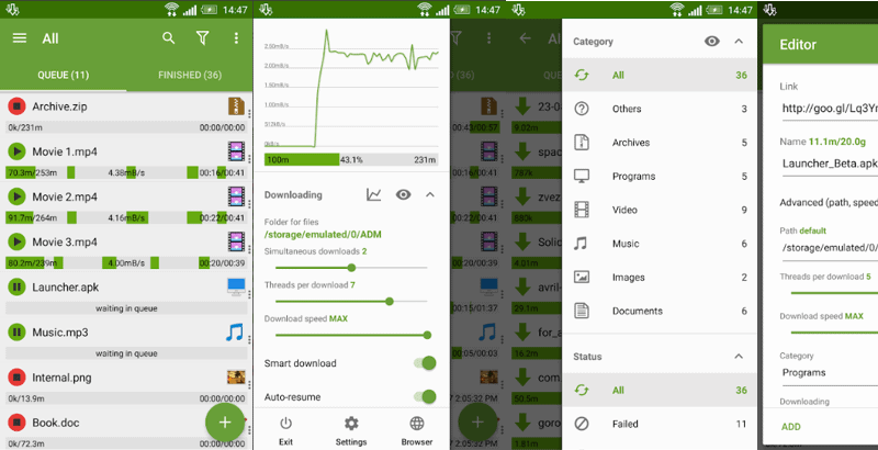 Best Music Downloader Apps for Android - Advanced Download Manager