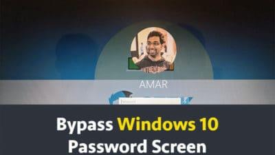 Bypass Windows 10 Password Screen