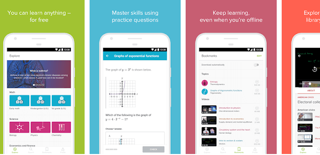 Khan Academy educational app for Android