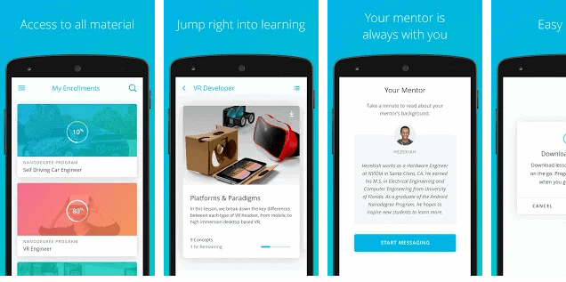 Udacity educational app for Android