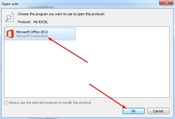 Choose MS Excel