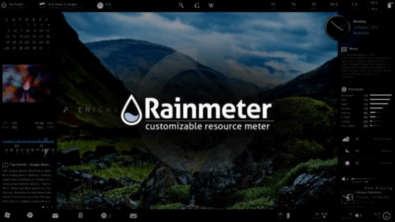 15 Best Rainmeter Skins for Windows PC/Laptop with Download Links