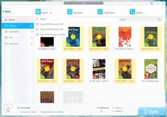 transfer iphone books
